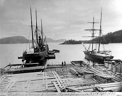 Bild_Utlastning av travaror fran Salsaker 14 sept 1899